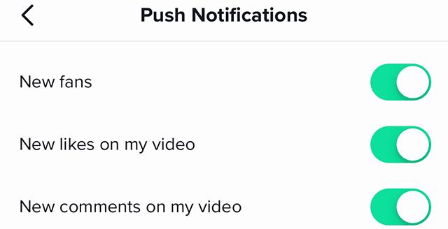 TikTok Notifications